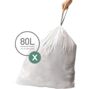 simplehuman® Custom Fit Trash Bags, Code X, 21 Gallon, 200 Bags/Box