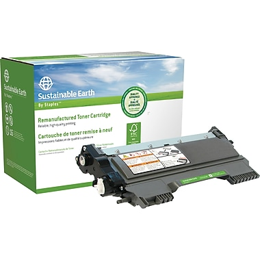 Sustainable Earth by Staples - Cartouche de toner noir, remise à neuf, Brother TN450 (SEBTN450R)