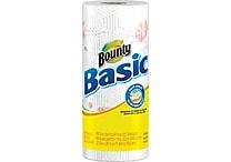 Bounty® Basic Paper Towel Rolls, 1-Ply, 30 Rolls/Case (Prints)