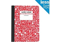 Staples® Composition Notebook, Wide Ruled, 9-3/4' x 7-1/2', Red