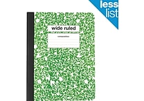 Staples® Composition Notebook, Wide Ruled, 9-3/4' x 7-1/2', Green