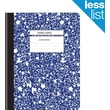 "Staples Composition Notebook, Wide Ruled, Blue, 9-3/4"" x 7-1/2"", Each (27621M-CC)"