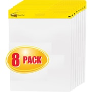 "Post-it® Easel Pads, 25W"" x 30H"", White, 8/Pack"