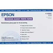 "Epson® Premium Photo Paper, White, 11""(W) x 17""(L), 20/Pack"