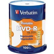 Verbatim DVD-R 4.7GB 16X Life Series White Inkjet Printable, 100pk Spindle