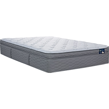 Serta Feathersby Plush EuroTop Mattress, Twin