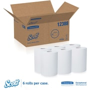 Scott® Slimroll Paper Towels, High Capacity, 6 Rolls/Case, 580 Feet/Roll (12388)
