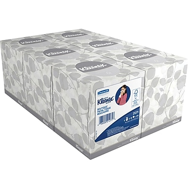 Kleenex® Boutique Face Tissue, 6 Boxes/Pack, 95 Sheets/Box, 2-Ply (21271)