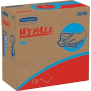 WypAll* X60 Reusable Wipers, Pop-Up* Box, White, 10 Packs/Case, 126 Sheets/Pack (34790)
