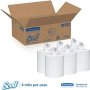 "Scott Roll Control Center Pull Paper Towels, White, 8.0"" Width x 12.0""Length (Case of 6, 700 Sheets per Roll)"