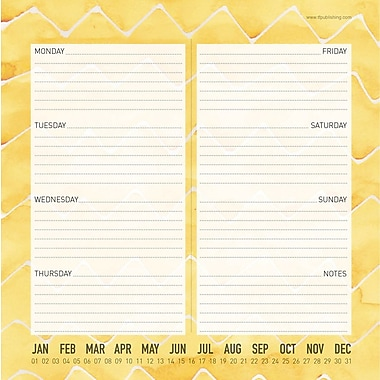 Citrus Non-Dated Weekly Desk Pad, 8-1/2