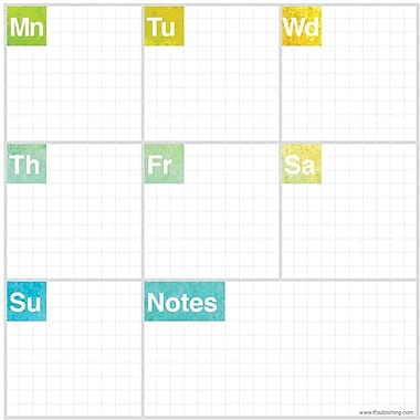 Elements Non-Dated Weekly Desk Pad, 8-1/2