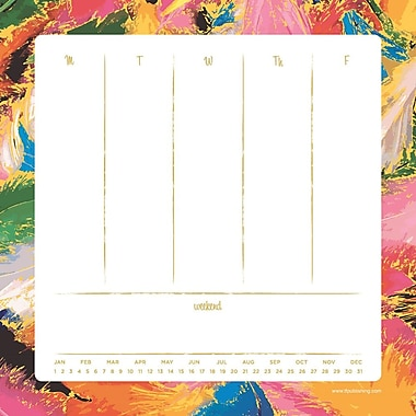 Splatter Non-Dated Weekly Desk Pad, 8-1/2