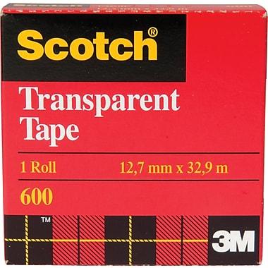 Scotch™ Transparent Tape, Boxed, 12.7mm x 32.9m