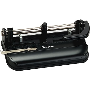 Swingline® M350 Lever-Handle Extra-Heavy-Duty 3-Hole Punch, 32-Sheet Capacity