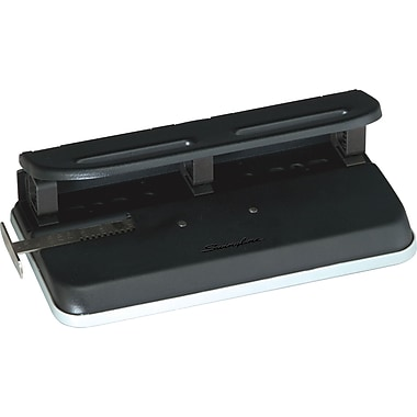 Swingline® M150 Adjustable 1-3 Hole Punch, 24-Sheet Capacity