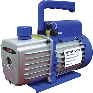 ATD® 3453 High Efficiency Single Stage Vacuum Pump, 3 CFM