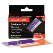 Swingline™ GBC® UltraClear™ Thermal Laminating Pouches, Business Card Size, 5 Mil, 100 Pack