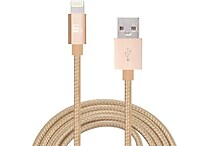 LAX Gadgets Apple Certified 10ft. 8-Pin Braided Lightning Cable, Assorted Colors