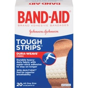 "BAND-AID Brand TOUGH-STRIPS Adhesive Bandages, 1"" x 3-1/4"", 20 Count/Box (Model: 4408)"