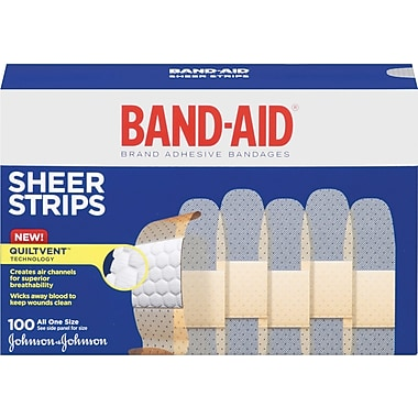 BAND-AID Brand Sheer Strips Adhesive Bandages, 3/4 x 3