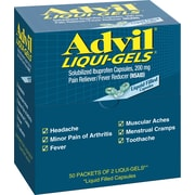 Advil Pain Relief Liqui-Gels, 200 mg, 50 Count/Box, Packs of 2 Liqui-Gels (016902)