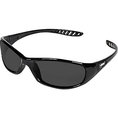 Jackson Safety V40 HellRaiser Safety Glasses, Black Frame, Smoke Lens (25714)
