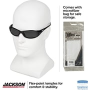 Jackson Safety V40 HellRaiser Safety Glasses, Black Frame