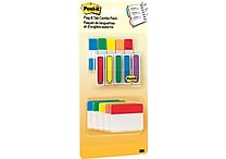 Post-it® Flags & Tabs Value Pack, Assorted Colors, 200 - 1/2' Flags, 30 - 2' Solid Tabs, 230/Pack