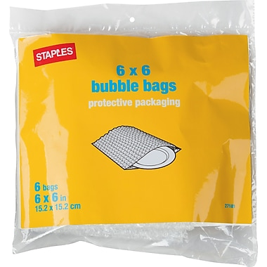 Staples Bubble Bags, 6