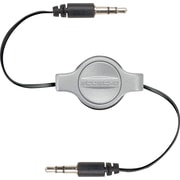 Scosche Retractable 3.5mm Auxiliary Audio Cable, Space Gray