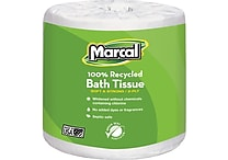 Marcal® 100% Recycled Bath Tissue, 2-Ply, White, 336 Sheets/Roll, 48 Rolls/Case (6079-48)