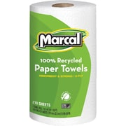 Marcal® 100% Recycled Perforated Jumbo Roll Towel, 2-Ply, 210 Sheets/Roll, 12 Rolls/Case (6210)