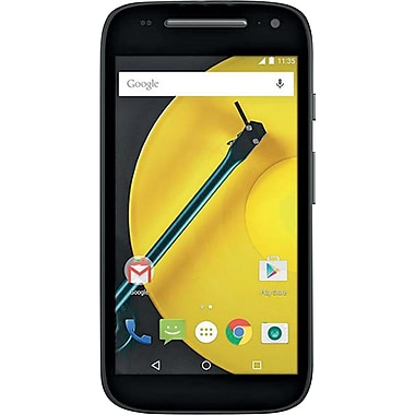 Motorola (00690NACRTL) Moto E 2nd Generation Smartphone, 8GB, Unlocked, Black