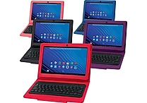 NuVision 10.1' Tablet with Bluetooth Keyboard Case, Assorted Case Colors- Refurbished