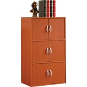 Hodedah HID33 6-Door Wood Storage Cabinets, Cherry