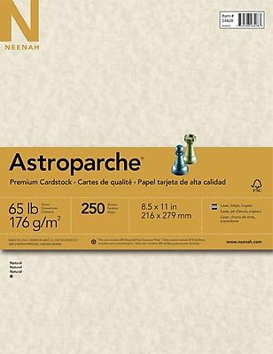 ASTROPARCHE Cardstock 8 1 2 x 11 65 lb. Natural Parchment 250 sheets