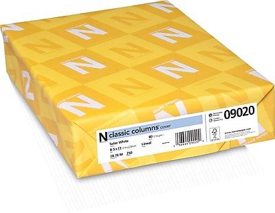 CLASSIC COLUMNS Cardstock 8 1 2 x 11 80 lb. Linear Pattern Solar White 250 Ream