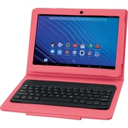 "NuVision 13.3"" Quad Core Tablet Kit, Refurbished, Pink"