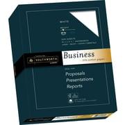 """SOUTHWORTH 25% Cotton Business Paper, 8 1/2"""" x 11"""", 20 lb., Wove Finish, White, 500/Box"""
