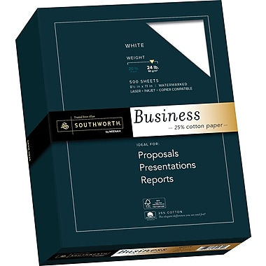 SOUTHWORTH 25% Cotton Business Paper, 8 1/2