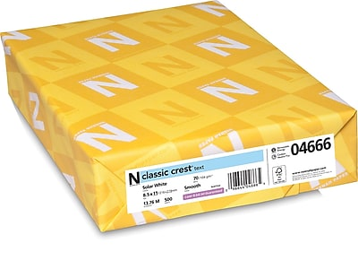 CLASSIC CREST Paper 8 1 2 x 11 70 lb. Smooth Finish Solar White 500 Ream