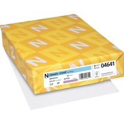 "Neenah Paper Classic Crest® 8 1/2"" x 11"" 24 lbs. Smooth Writing Paper, Whitestone, 500/Ream"