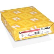 "Neenah Paper Classic® 8 1/2"" x 11"" 24 lbs. Linen Writing Paper, Solar White, 500/Ream"