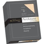 "SOUTHWORTH Parchment Specialty Paper, 8 1/2"" x 11"", 24 lb., Parchment Finish, Copper, 500/Box"