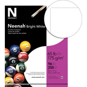 "NEENAH Bright White Cardstock, 8 1/2"" x 11"", 65 lb., Bright White, Smooth, 250 sheets"