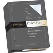 "SOUTHWORTH Parchment Specialty Paper, 8 1/2"" x 11"", 24 lb., Parchment Finish, Blue, 500/Box"