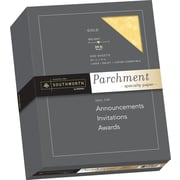 "SOUTHWORTH Parchment Specialty Paper, 8 1/2"" x 11"", 24 lb., Parchment Finish, Gold, 500/Box"