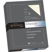 "SOUTHWORTH Granite Specialty Paper, 8 1/2"" x 11"", 32 lb., Granite Finish, Ivory, 250/Box"