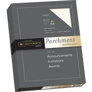 "SOUTHWORTH Parchment Specialty Paper, 8 1/2"" x 11"", 32 lb., Parchment Finish, Ivory, 250/Box"
